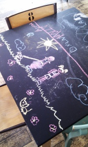 Chalk board tables