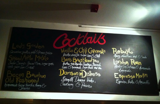 Cocktails at Ben's Canteen